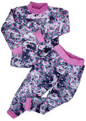 теплый детский костюм для девочек