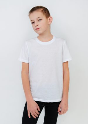футболка подростковая белая
